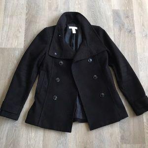 H&M Black peacoat
